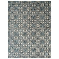 Safavieh Handmade Moroccan Chatham Majestic Light Blue/ Ivory Wool Rug - 6' x 9'