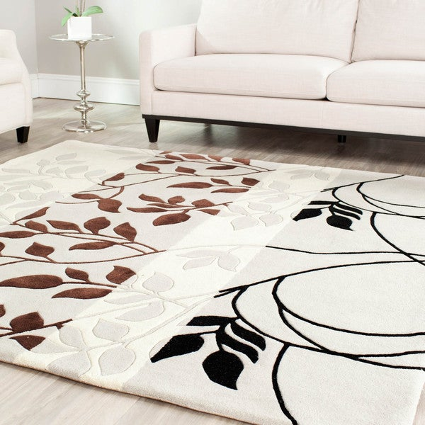 Safavieh Handmade Marrakesh Grey New Zealand Wool Rug (4' x 6')