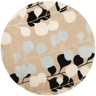 Safavieh Handmade Marrakesh Beige New Zealand Wool Rug (7' Round)