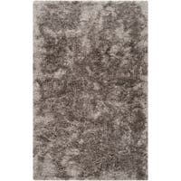 Hand-woven Oakridge Grey Luxurious Shag Area Rug - 2' X 3'