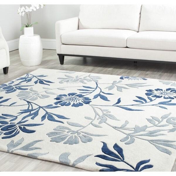 Safavieh Handmade Marrakesh Ivory/ Blue Wool Rug (8' x 10')