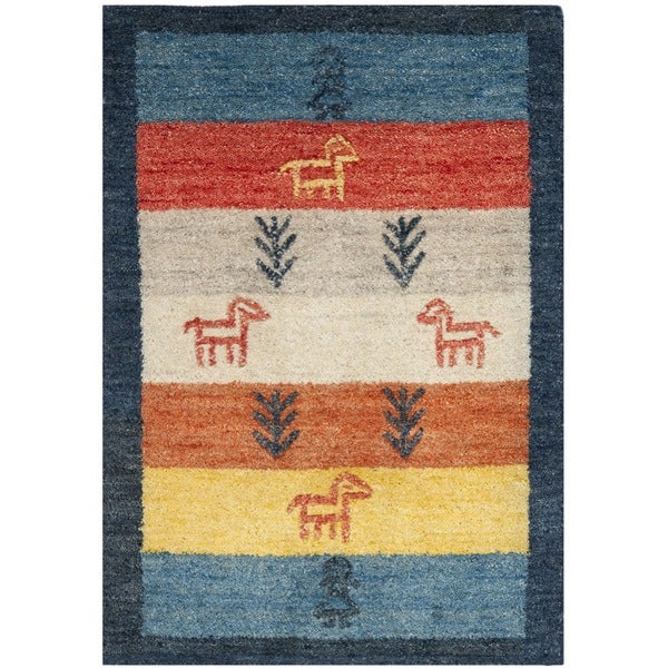 Safavieh Handmade Gabeh Journey Bluel Wool Rug (2' x 3')