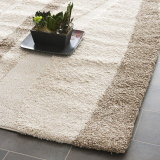 Safavieh Willow Cream Background and Dark Brown Shag Runner (2'3 x 11')