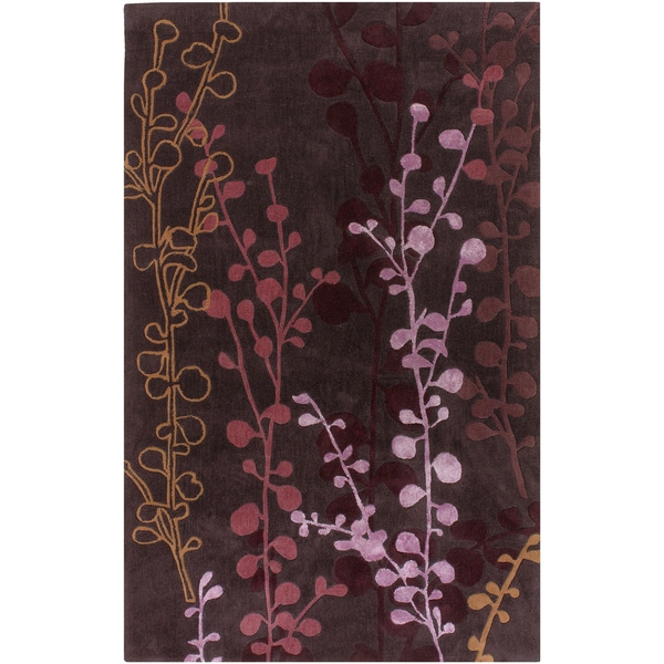 Hand-tufted Pablo Purple Floral Rug (2' x 3')