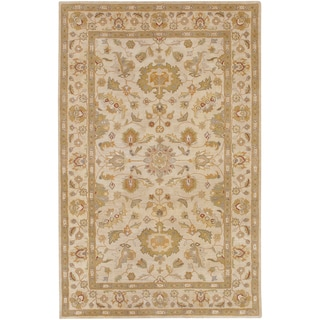 Hand-tufted Palmhurst Ivory Floral Border Wool Rug (2' x 3')