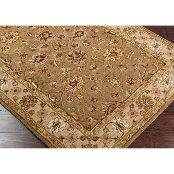 Hand-tufted Palmview Tan Wool Rug (2' x 3')
