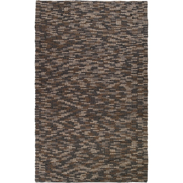 Hand-woven Pantego Grey Wool Plush Textured Rug (2' x 3')