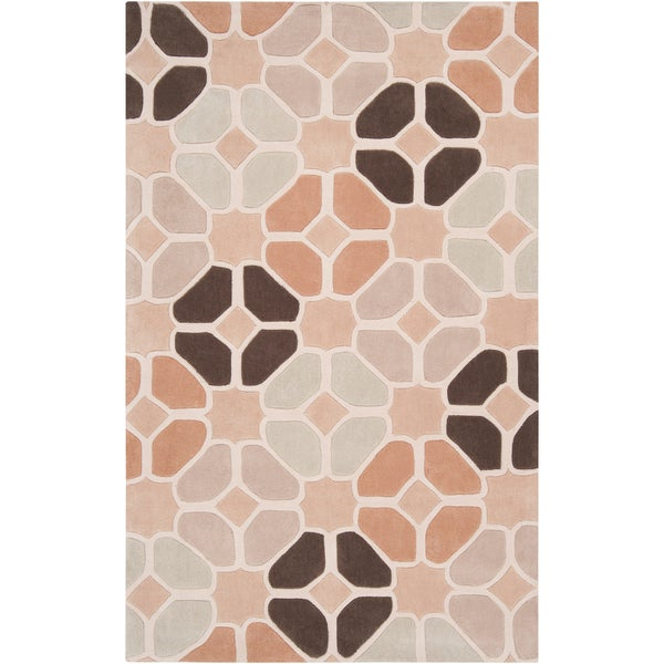 Hand-tufted Plains Ivory Moroccan Tile Rug (2' x 3')