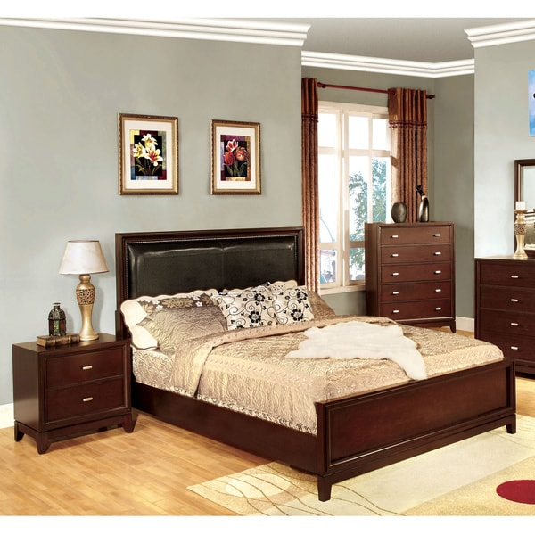 Furniture of America 'Sydney' Queen-size Bed and Nighstand Set
