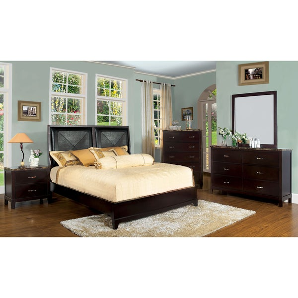 Furniture of America 'Deven' 2-piece Bed and Nightstand Set