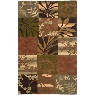 Hand-tufted Porte Green Polyester Rug (2' x 3')