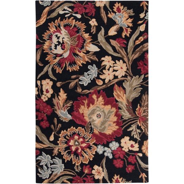 Hand-tufted Prescott Black Wool Rug (2' x 3')