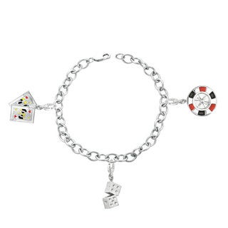 Sterling Silver New York City Theme Charm Bracelet