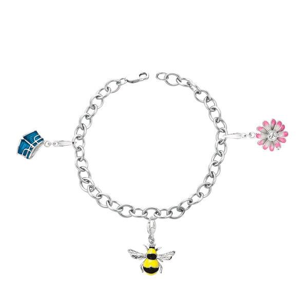 Sterling Silver Summer Theme Charm Bracelet