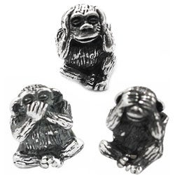 De Buman Sterling Silver 'Sanbiki no Saru' Monkey Charm Beads|https://ak1.ostkcdn.com/images/products/7278457/De-Buman-Sterling-Silver-See-No-Evil-Speak-No-Evil-Monkey-Charm-Beads-P14754342s.jpg?_ostk_perf_=percv&impolicy=medium