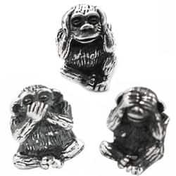 De Buman Sterling Silver 'Sanbiki no Saru' Monkey Charm Beads|https://ak1.ostkcdn.com/images/products/7278457/De-Buman-Sterling-Silver-See-No-Evil-Speak-No-Evil-Monkey-Charm-Beads-P14754342s.jpg?impolicy=medium