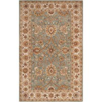 Hand-tufted Redland Green Wool Area Rug - 2' x 3'