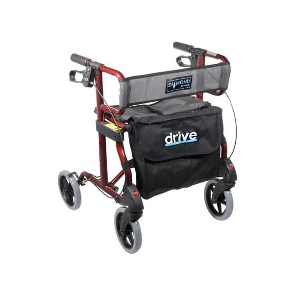 Drive Medical Diamond Transport Wheelchair Rollator