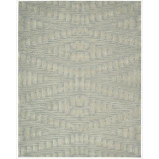 Nourison Hand-tufted Moda Ivory Light Blue Breeze Rug (7'6 x 9'6)