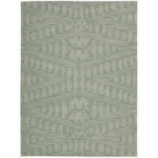 Nourison Hand-tufted Moda Ivory Light Blue Breeze Rug (5'8 x 6'9)