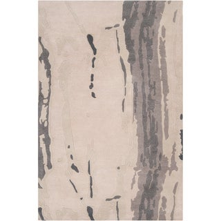 Hand-tufted Richland Grey Abstract Plush Wool Rug (2' x 3')