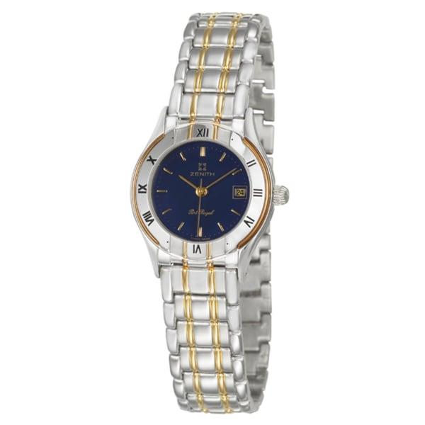 Zenith Women's 'Port Royal' Stainless Steel Swiss Quartz Watch