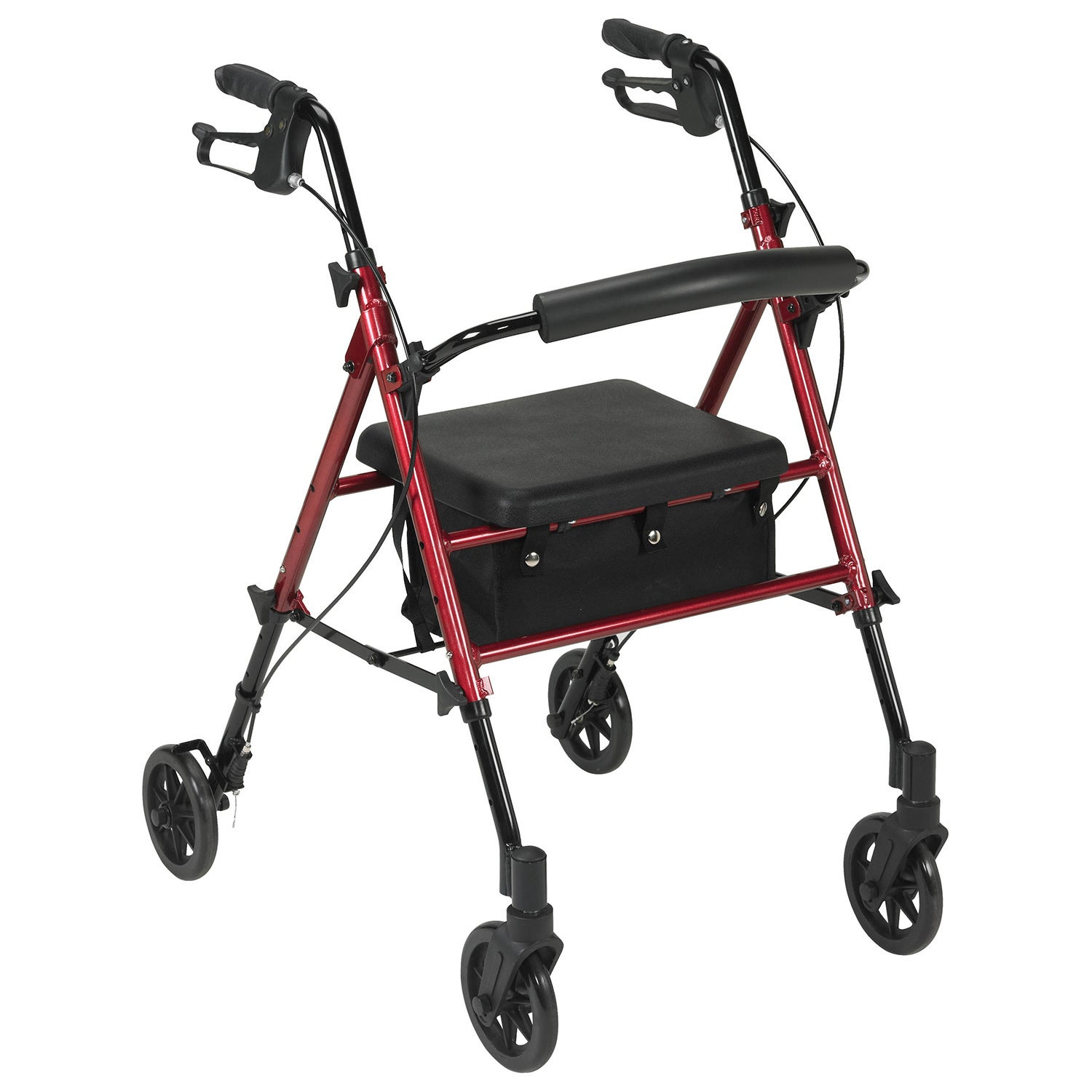 Drive Medical Adjustable Height Rollator with 6-inch Whee...