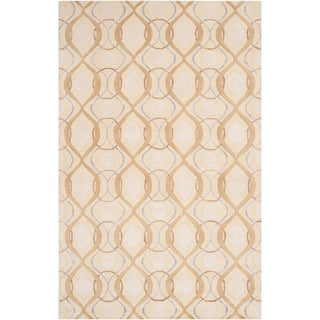 Hand-tufted Rio Beige Moroccan Tile Pattern Wool Rug (2' x 3')