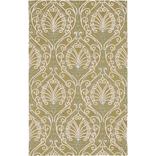 Candice Olson Hand-tufted Riviera Green Botanical Pattern Wool Rug (2' x 3')