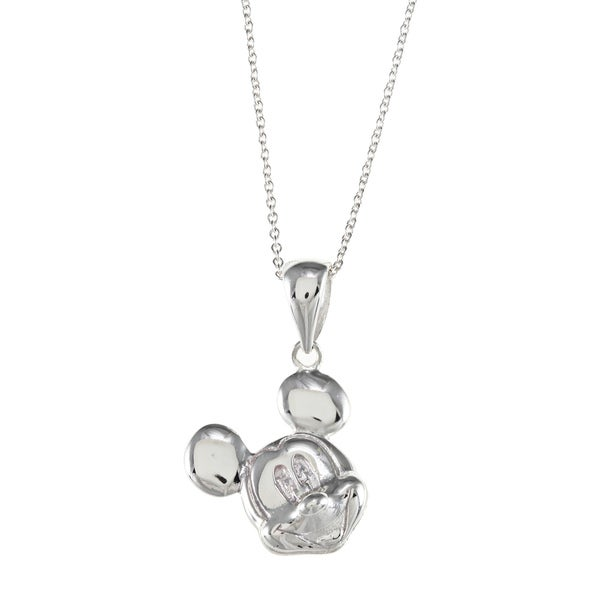 Disney Sterling Silver Mickey Mouse Necklace