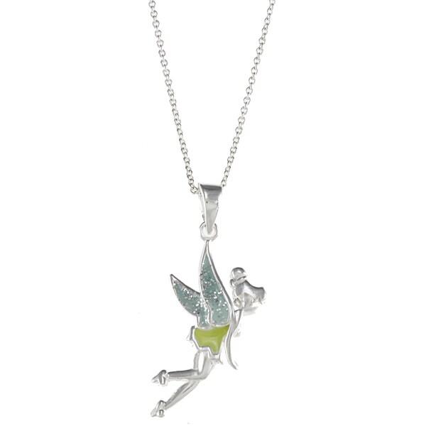 Disney Sterling Silver Tinkerbell Pendant
