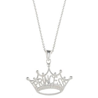 Shop Disney Sterling Silver Princess Crown Pendant Free