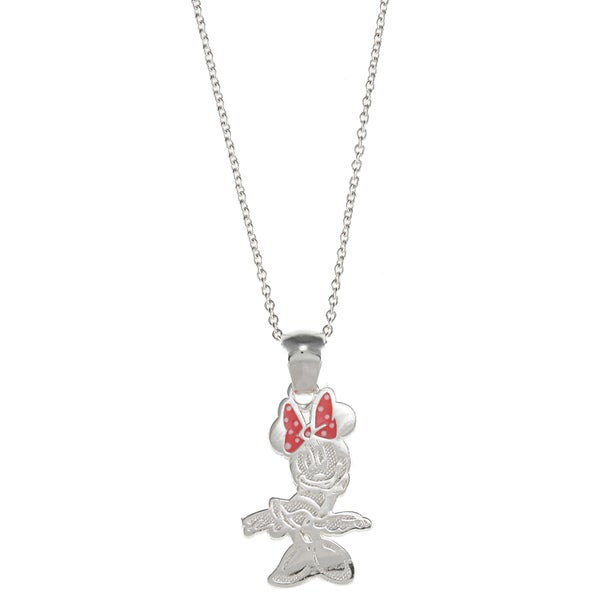 Disney Sterling Silver Minnie Mouse Pendant