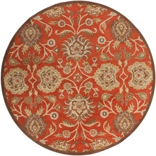 Hand-tufted Round Red Wool Rug (8' Round)