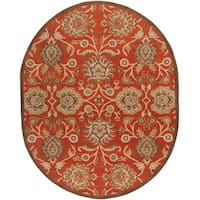 Hand-tufted Roundup Red Wool Area Rug - 8' x 10'