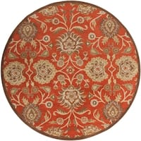 Hand-tufted Roy Red Wool Area Rug - 4' x 4'