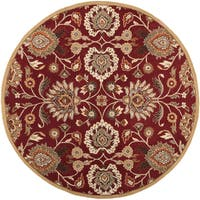 Hand-tufted Runaway Red Wool Area Rug (9'9 Round)
