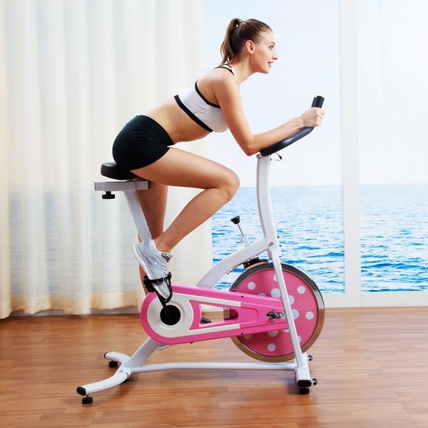 Sunny Health & Fitness P8100 Pink Indoor Cycling Bike