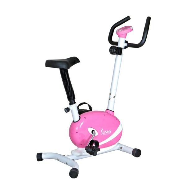 Sunny Pink Magnetic Upright Bike - 14754620 - Overstock ...