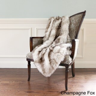 Aurora Home Wild Mannered Luxury Long Hair Faux Fur Throw Blanket (More options available)