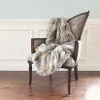 Aurora Home Wild Mannered Luxury Long Hair Faux Fur 58 x 36-inch Lap Throw