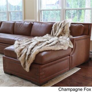 Wild Mannered Luxury Long Hair Faux Fur Lap Throw