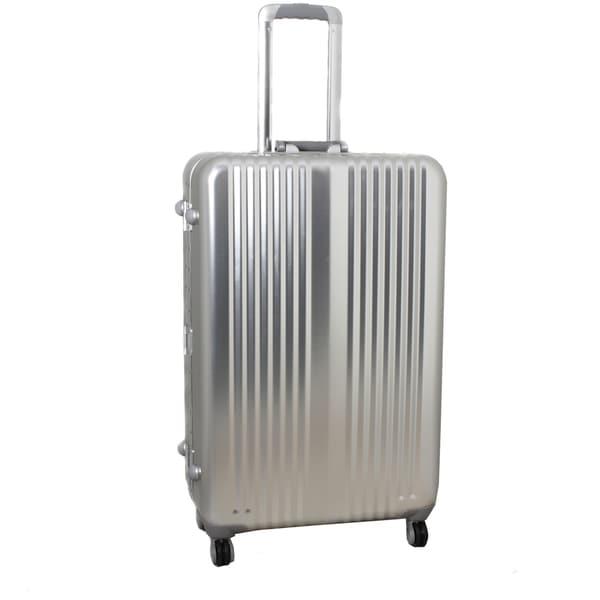 World Traveler Silver Bullet 21-inch Silver Aluminum Spinner Upright Luggage with TSA Locks