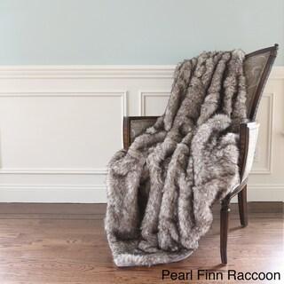 Aurora Home Wild Mannered Luxury Long Hair Faux Fur 60-inch Lap Throw Blanket