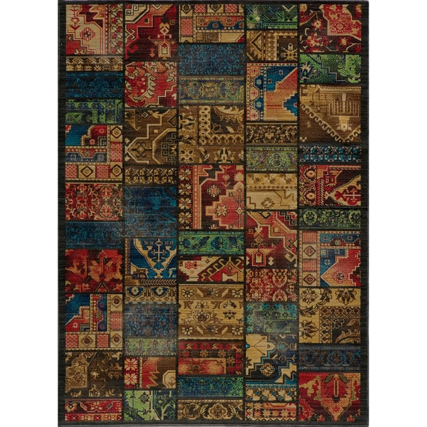 Vintage Warren Patchwork Multi New Zealand Wool Rug (7'10 x 9'10)
