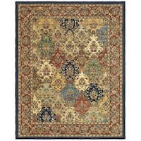 Safavieh Handmade Heritage Timeless Traditional Multicolor/ Burgundy Wool Rug - 12' X 18'