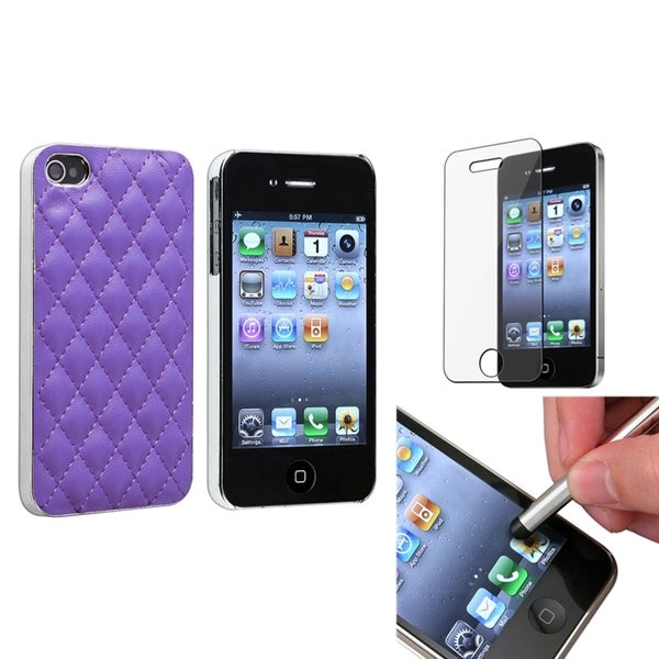 BasAcc Case/ Silver Stylus/ Protector for Apple iPhone 4/ 4S
