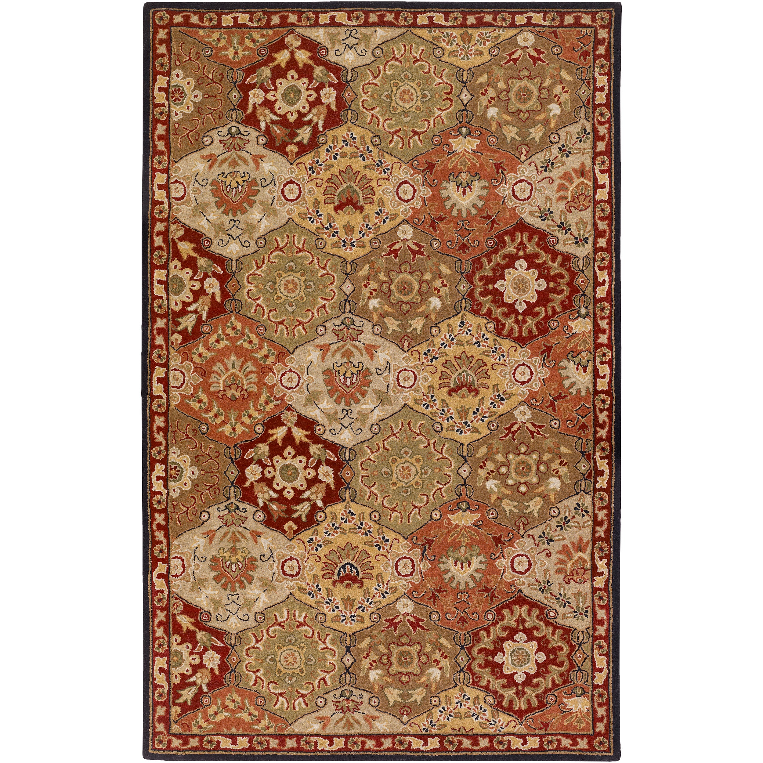 Hand-tufted Sandy Beige Wool Rug (2' x 3')