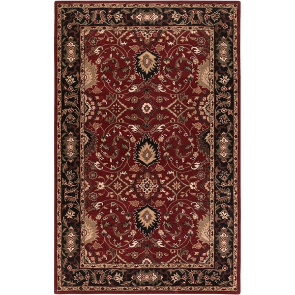 Hand-tufted Santel Red Wool Area Rug (2' x 3')