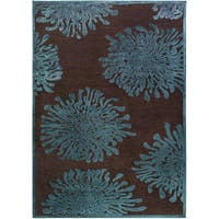 Serpentine Blue Floral Area Rug (2'2 x 3') - 2'2 x 3'